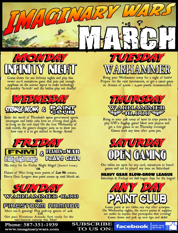 March events 4 blog