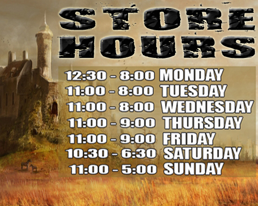 2014 Store Hours