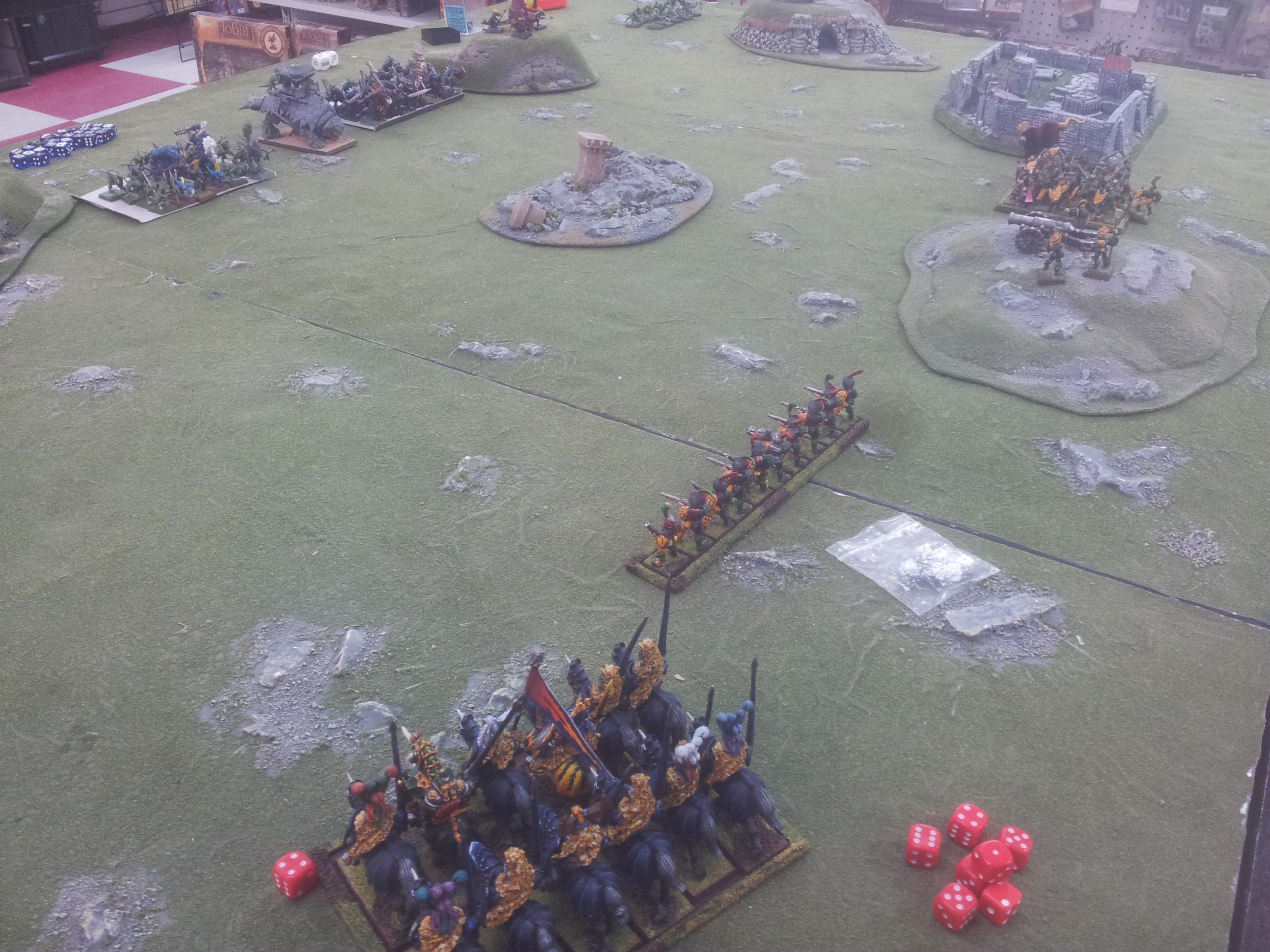 This is my Empire army at 1000 points ...about to get thoroughly pantsed.
