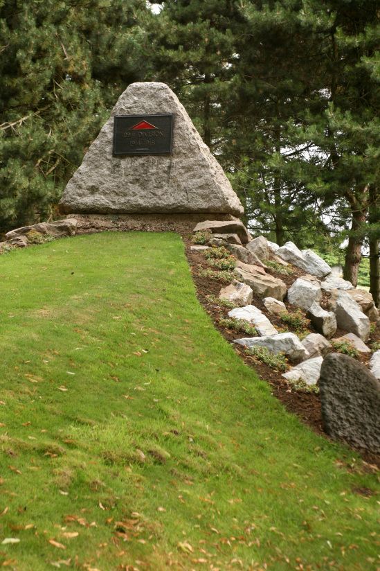 The Memorial to the 29th Division. The divisional badge was a red triangle.