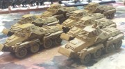 SD Kfz 231 (8-Rad) Heavy Panzerspah Platoon, primed Middlestone with just a (much lighter) brown wash.